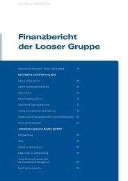 Finanzbericht der Looser Gruppe - Looser Holding