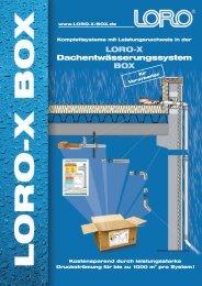 LORO-X Dachentwässerungssystem BOX