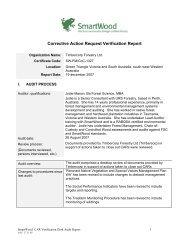 Corrective Action Request Verification Report - Rainforest Alliance