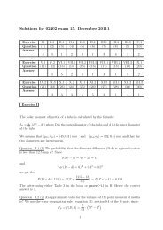 Solutions for 02402 exam 15. December 20111