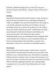 Anne Rambergs anförande vid Rättssäkerhetsdagen den 8 ...