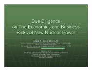 Due Diligence on New Nuclear Power - Energy Economy Online