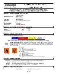 JP-Y91 Printing Ink | Material Safety Data Sheet : Hitachi America, Ltd.