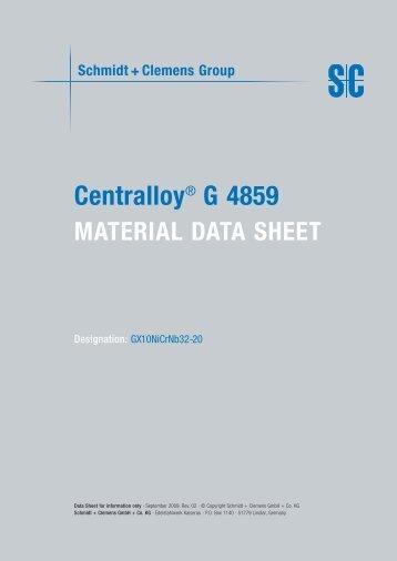 Centralloy® G 4859 - Schmidt+Clemens