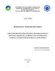 REZUMATUL TEZEI DE DOCTORAT - USAMV Cluj-Napoca