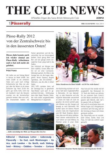THE CLUB NEWS - Swiss British Motorcycle Club