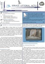 La newsletter du service littoral de l'ESTRAN - Science Action Haute ...