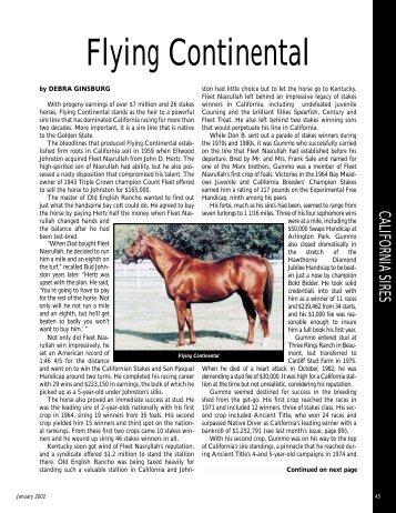 Flying Continental - California Thoroughbred Breeders Association