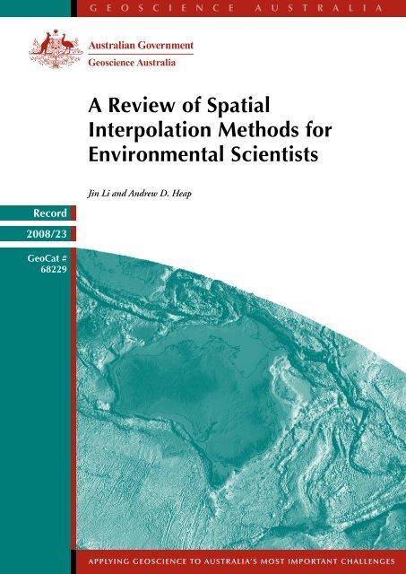 Spatial Interpolation Methods - Geoscience Australia