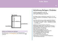 Anlieferung Beilagen / Einkleber Techn. Daten