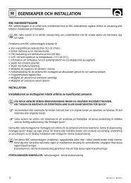 Page 1 12 EGENSKAPER OCH INSTALLATION SE RRC R02/12 ...