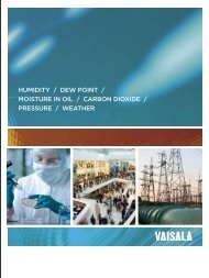 Download Vaisala's catalog - Thermo/Cense Inc.