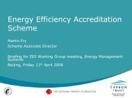 Mr Martin Fry: UK: Energy Efficiency Accreditation Scheme - unido