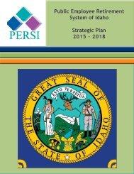 Strategic plan 2013 - PERSI
