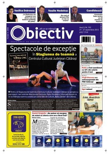 Spectacole de excepţie - Obiectiv