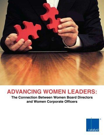 ADvAnCing Women LeADers: - Catalyst