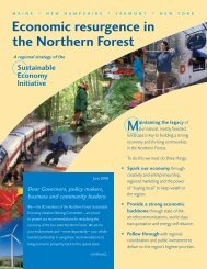 Economic resurgence in the Northern Forest - North Country Council
