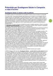 Potenziale per Guadagnare Salute in Campania - EpiCentro ...