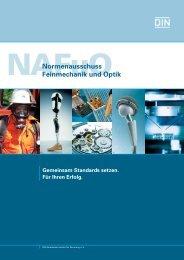 Imagebroschüre NAFuO (520.4 KB) - DIN Deutsches Institut für ...