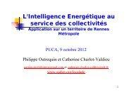 L'Intelligence Energétique au service des collectivités - Prebat 2