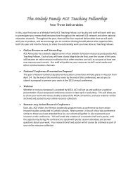 Year Three Deliverables - Alliance for Catholic Education