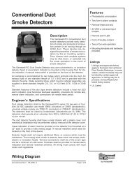 Conventional Duct Smoke Detectors - Gamewell-FCI