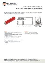 SmartTrack™ System-ATEX D116 Transponder - T.D. Williamson, Inc.