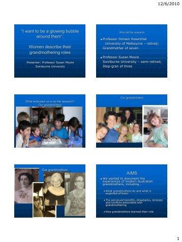Modern grandparenting - Salisbury Communities for Children