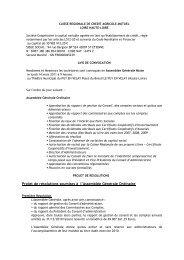 Avis de convocation et projet de résolutions à - Crédit Agricole Loire ...