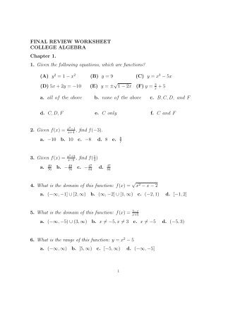 college algebra review worksheets free worksheets library download and print worksheets free. Black Bedroom Furniture Sets. Home Design Ideas
