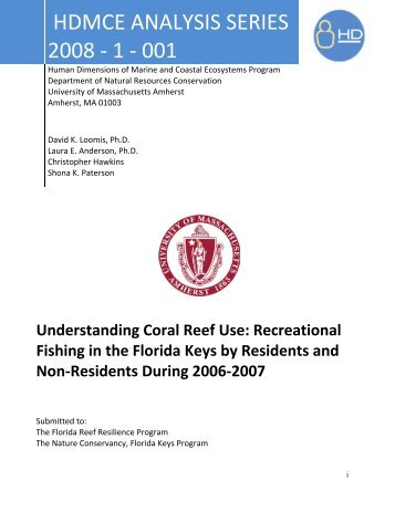 HDMCE ANALYSIS SERIES 2008 - 1 - 001 - The Florida Reef ...