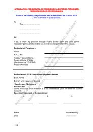 Application for drawal of Pension through public sector Banks