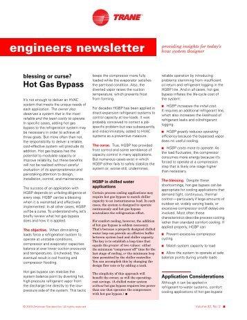 Trane Engineers Newsletter, volume 32-2