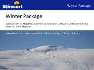 Skiresort stellt Ihr Skigebiet ausführlich vor, bewirbt es umfassend ...