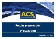 Results presentation - Grupo ACS