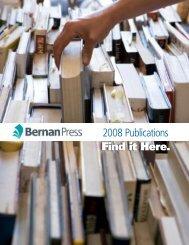 NEW IN 2008 - Bernan