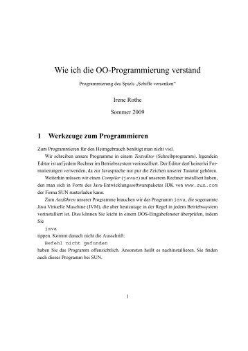 Wie ich die OO-Programmierung verstand - Hochschule Bonn-Rhein ...