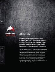BRT About Us (PDF) - BlackRidge Technology