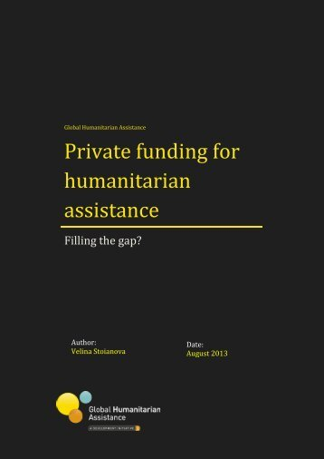 Private funding for humanitarian assistance - Global Humanitarian ...