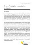 Private funding for humanitarian assistance - Global Humanitarian ... - Page 3
