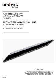 Design Heizstrahler Platinum Anleitung - wohn-waerme