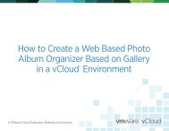 How to Create a Web Based Photo Album Organizer ... - VMware