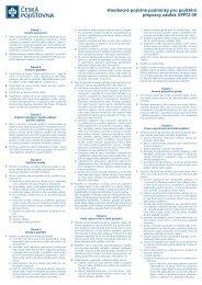 Všeobecné pojistné podmínky pro pojištění přepravy zásilek - Geis CZ