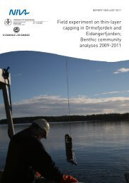 Field experiment on thin-layer capping in Ormefjorden and ...