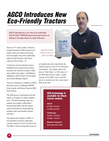 AGCO Introduces New Eco-Friendly Tractors - AGCO Parts
