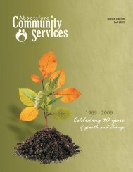 of Growth and Change - Abbotsford Community Services