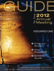 Guide to the 2012 Annual Meeting of the - Borderline Personality ...