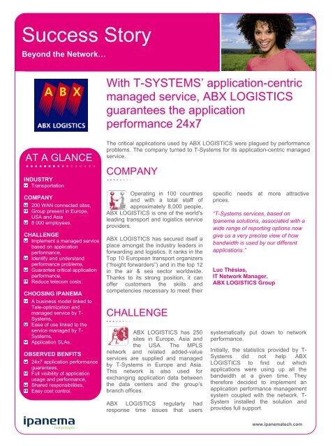 ABX LOGISTICS - Infosight Solutions Corp