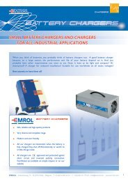Brochure on battery chargers (English) - Emrol