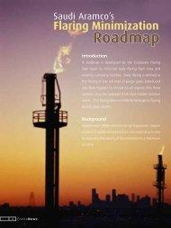 Saudi Aramco's Flaring Minimization Roadmap